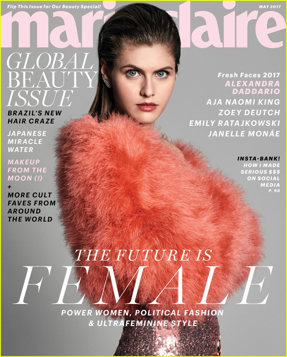 zoey deutch marie claire magazine cover 02