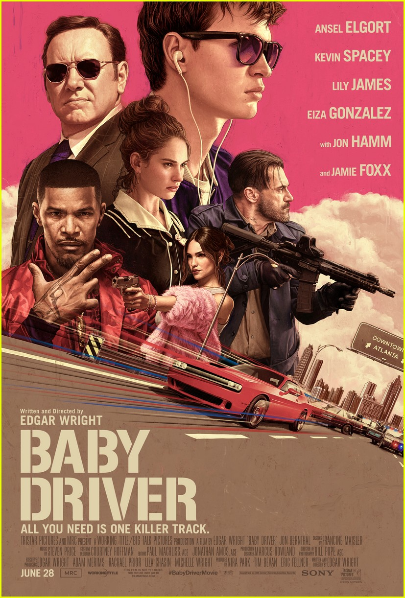 baby driver gets gorgeous new poster and motion poster 01
