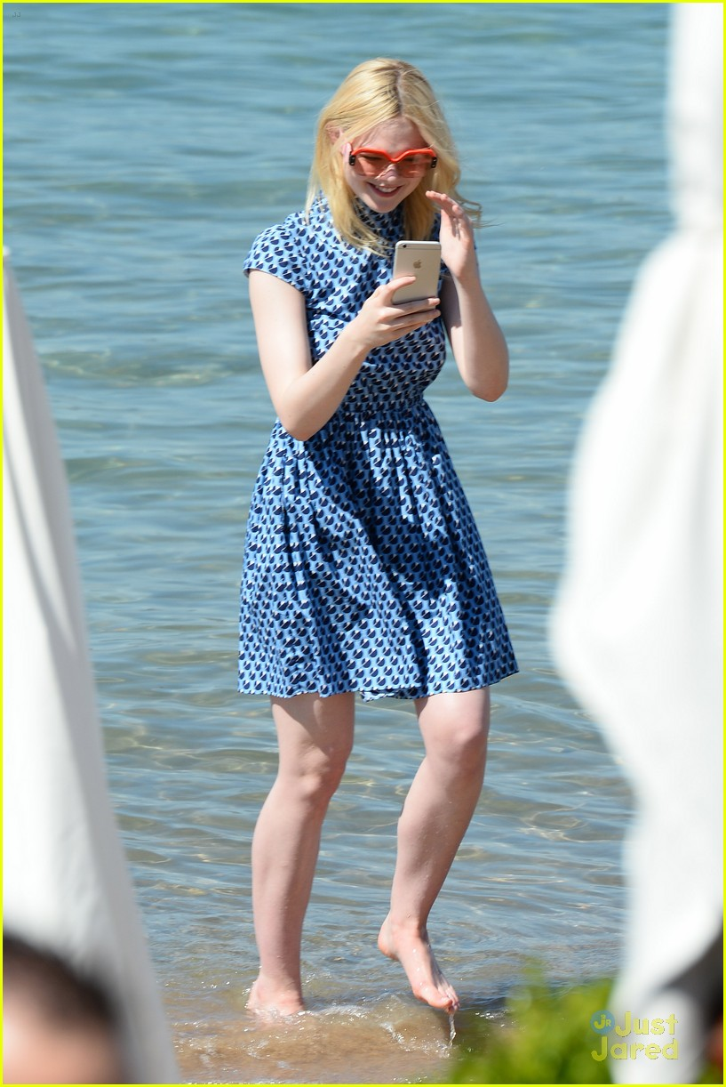 elle fanning out cannes special pjs 06