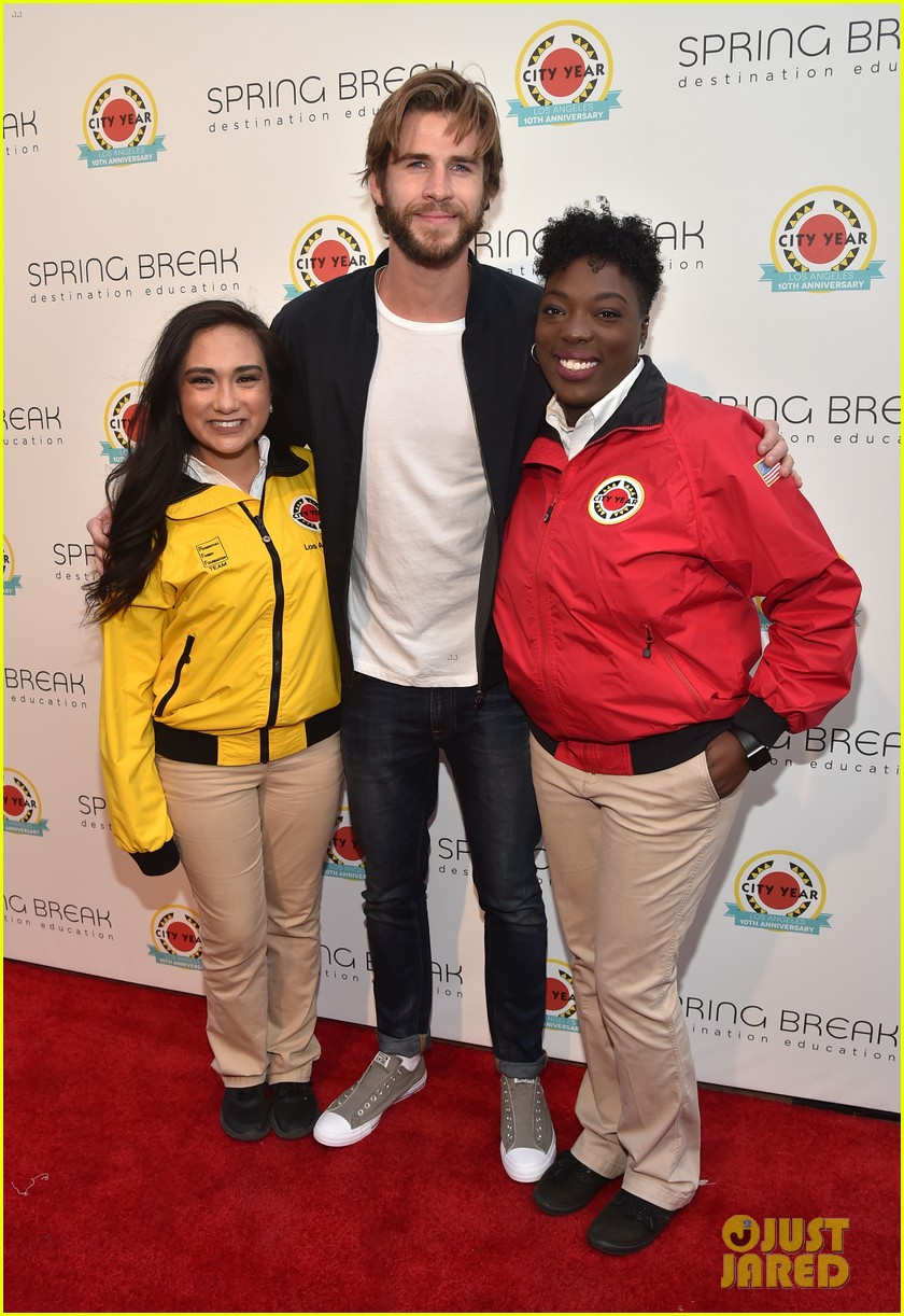 liam hemsworth joey king step out at annual city year la spring break event 22