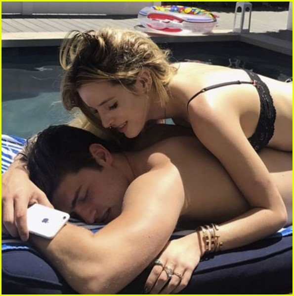 bella thorne hits the pool with gregg sulkin for his birthday 04