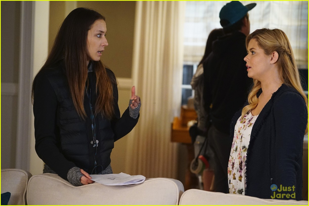 troian bellisario dishes on directing pll 15