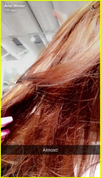 ariel winter shows off new red hair color while out with boyfriend levi meaden2 03