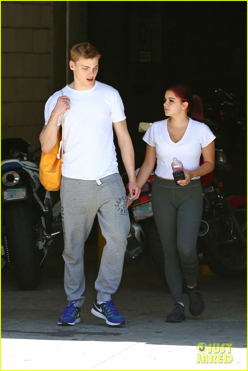 ariel winter shows off new red hair color while out with boyfriend levi meaden2 05