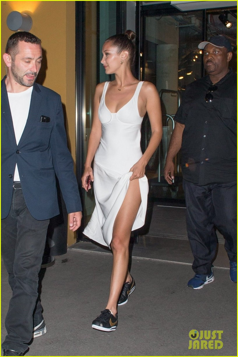 bella hadid sports corst jumpsuit while out and about in paris 05