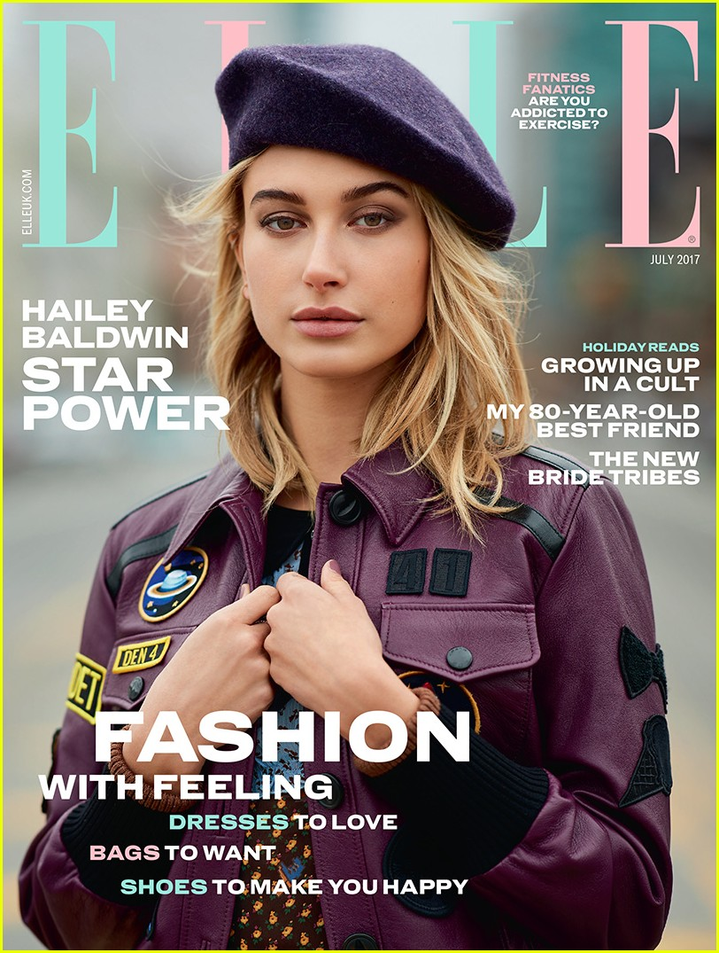 hailey baldwin elle uk cover 01