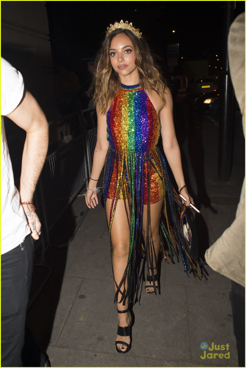 c1391071adb2 Posted in Little Mix s Jade Thirlwall Found The Perfect Drag Name · Zoom In  Zoom. jade thirlwall pride rainbow romper 03