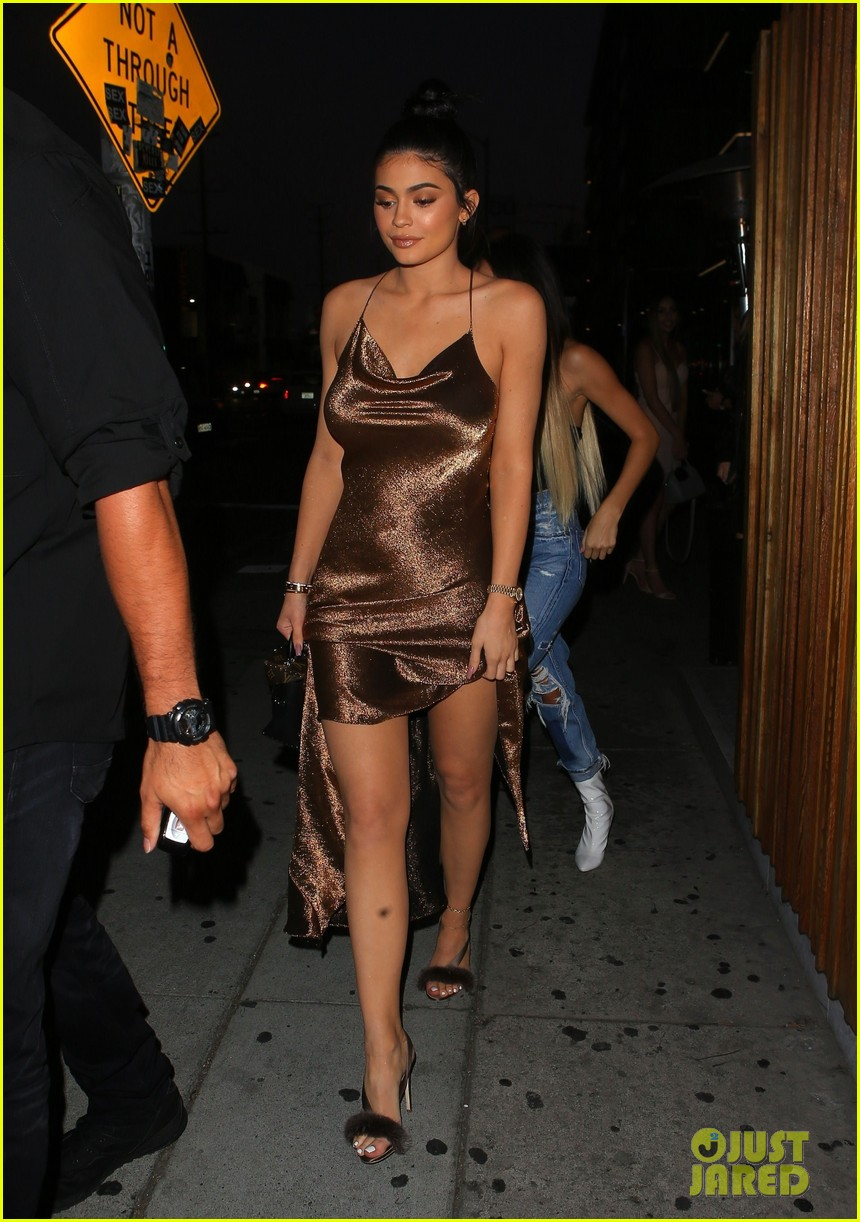 Kylie Jenner Is a Golden Goddess in Shimmering Gown!   Photo 1094554 ...