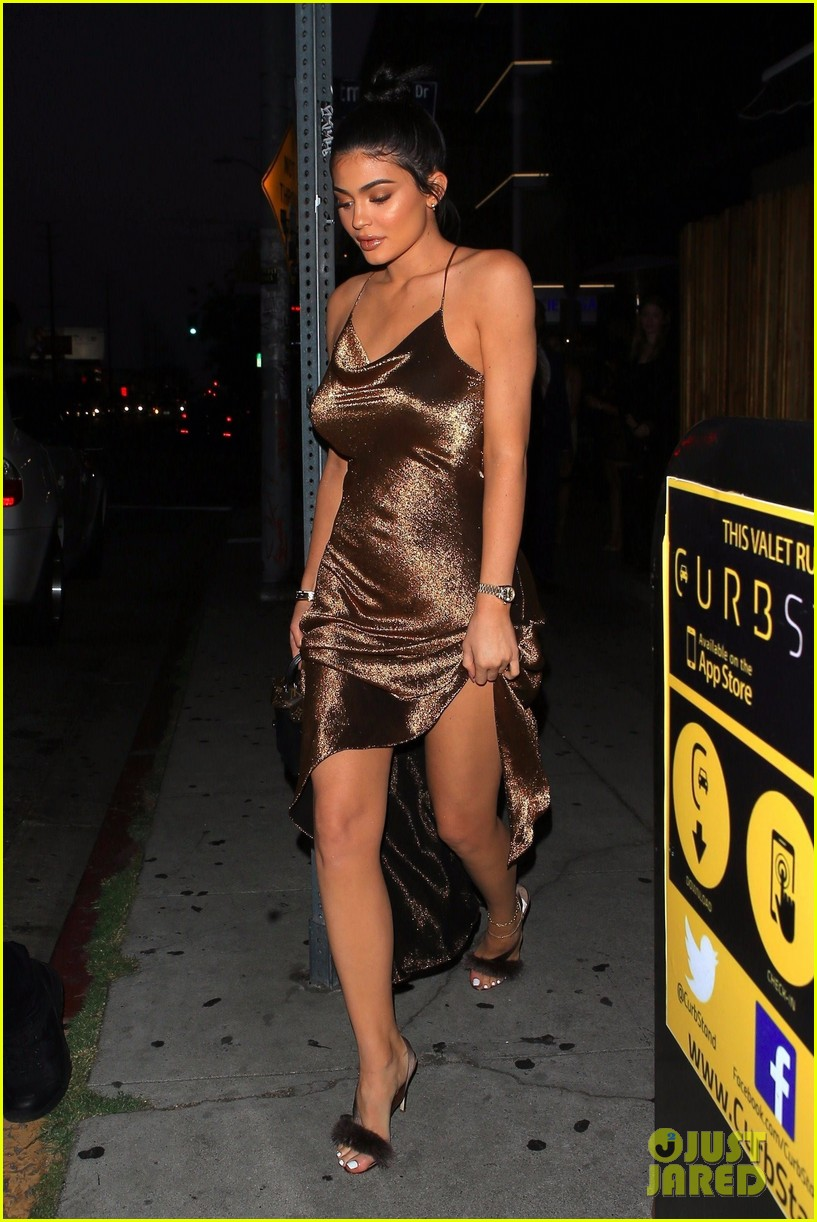 Kylie Jenner Is a Golden Goddess in Shimmering Gown! | Photo 1094556 ...