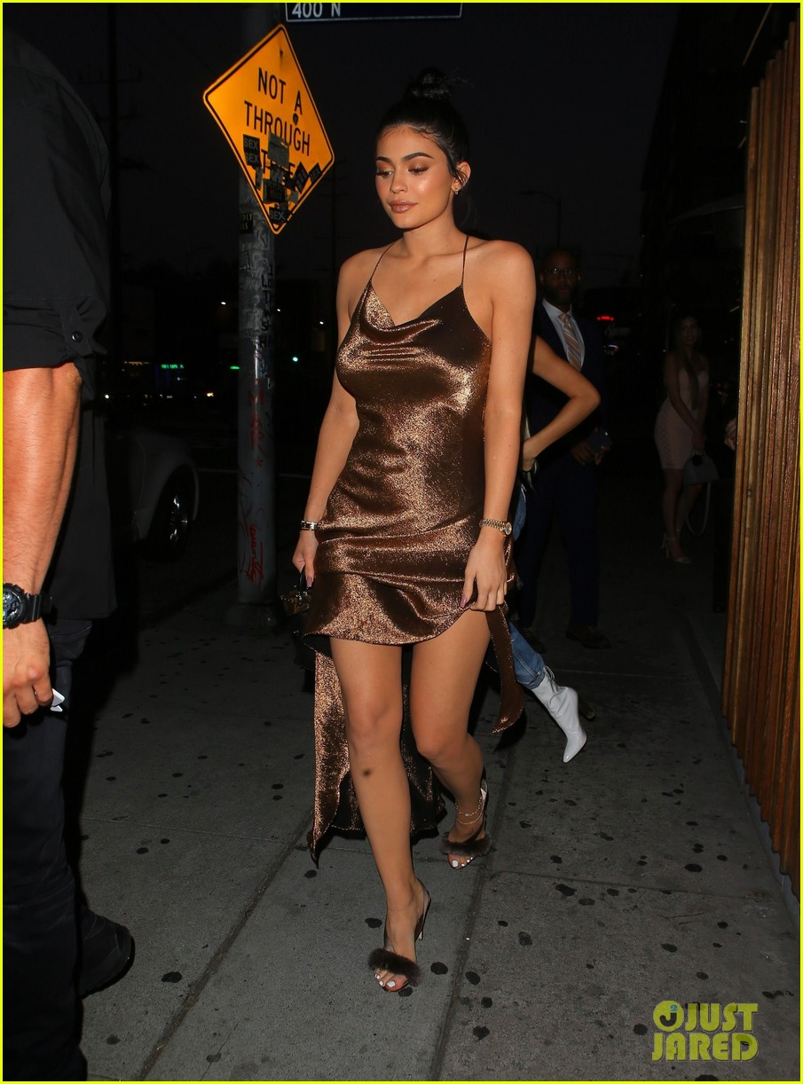 Kylie Jenner Is a Golden Goddess in Shimmering Gown!   Photo 1094559 ...