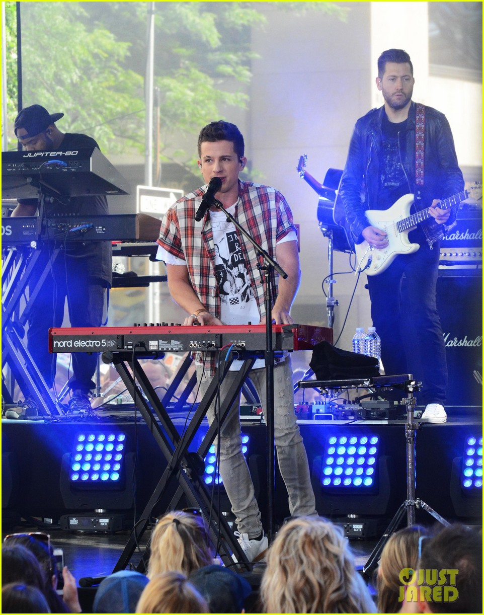 watch charlie puth perform attention on today show summer concert series 11