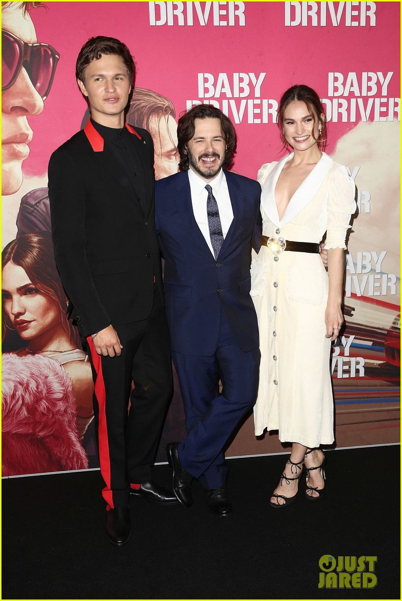 images Lily james baby driver australian premiere in sydney