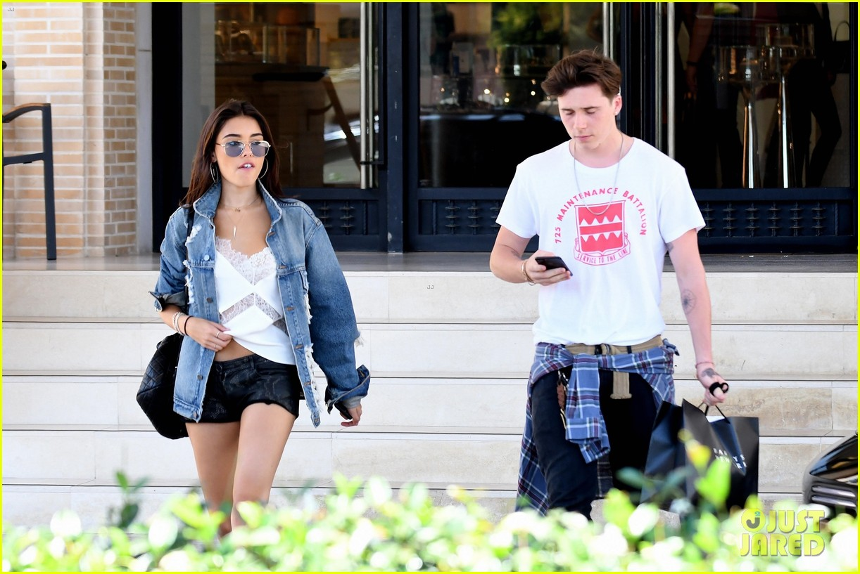 brooklyn beckham shops with madison beer after introducing her to his mom 06