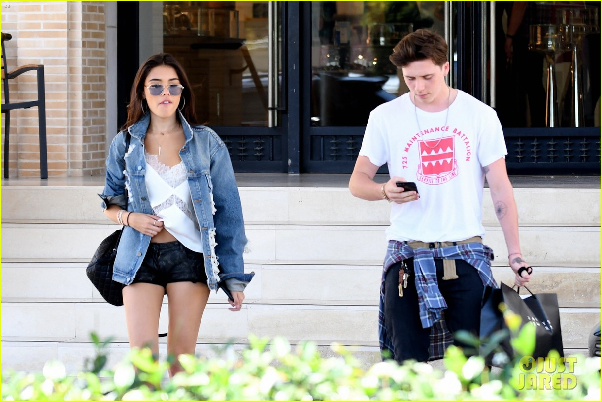 brooklyn beckham shops with madison beer after introducing her to his mom 07