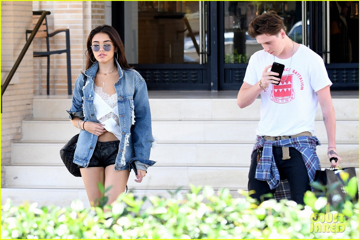 brooklyn beckham shops with madison beer after introducing her to his mom 13
