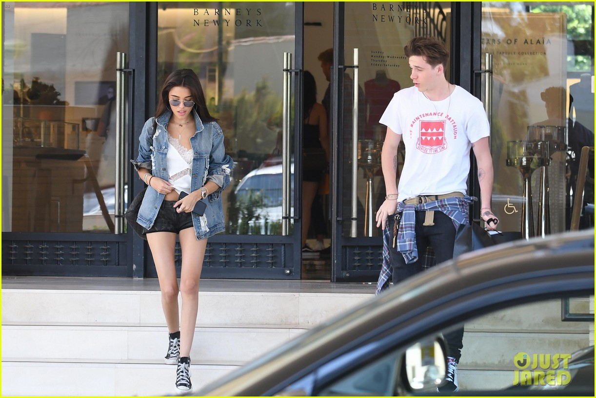 brooklyn beckham shops with madison beer after introducing her to his mom 23