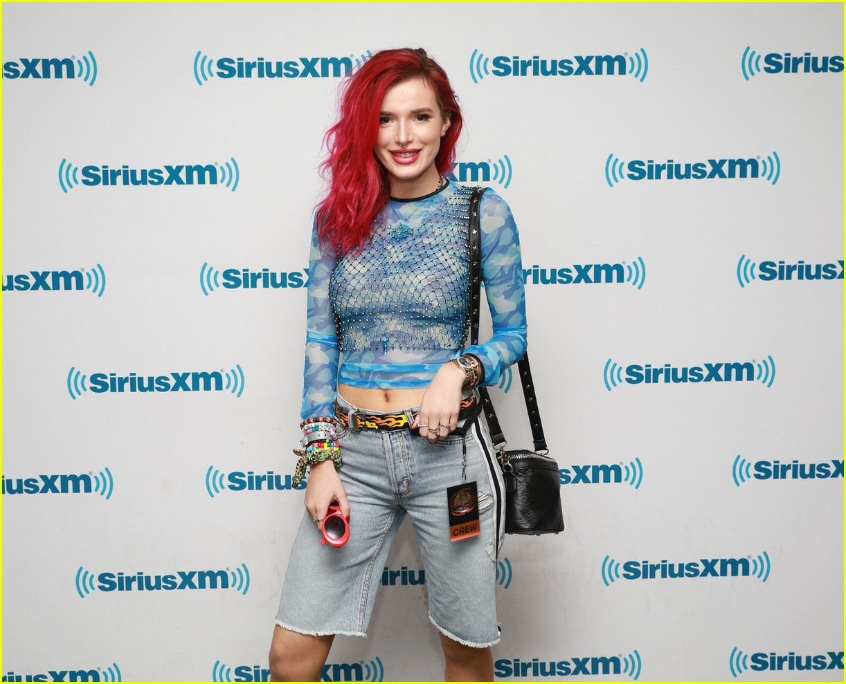 Watch Bella thorne comming out of a radio show in nyc video