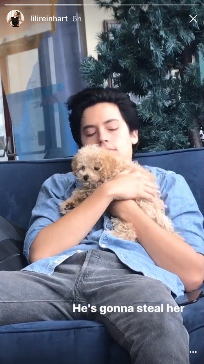 cole sprouse cuddles candice pattons dog sdcc 01
