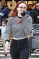 sophie turner debuts red hair in LA 05