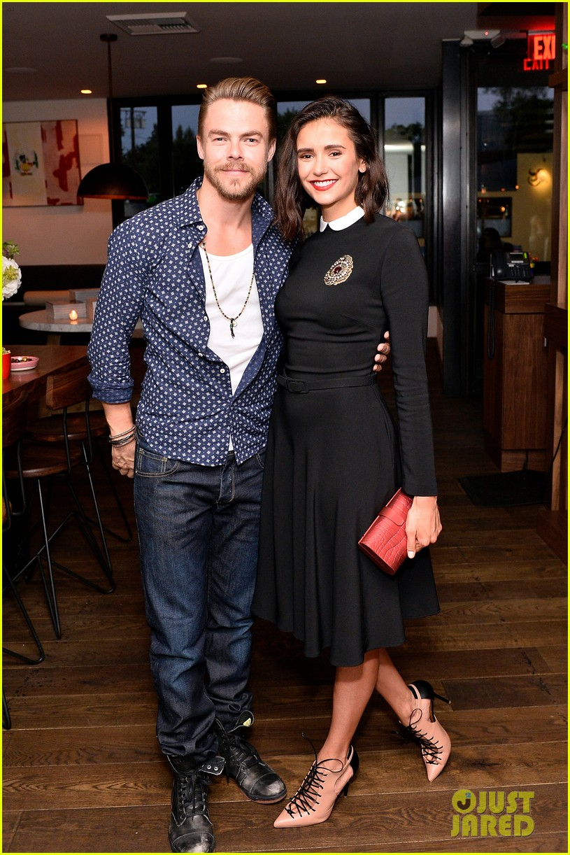 nina dobrev celebrates her harpers cover with friends 03