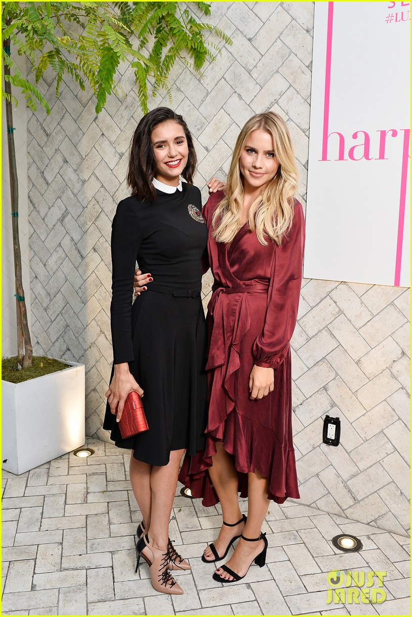 nina dobrev celebrates her harpers cover with friends 20