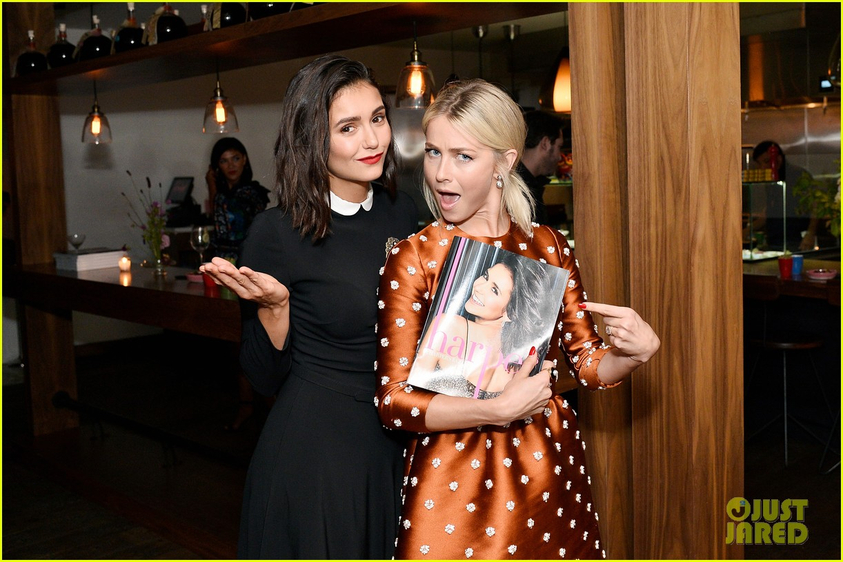 nina dobrev celebrates her harpers cover with friends 26