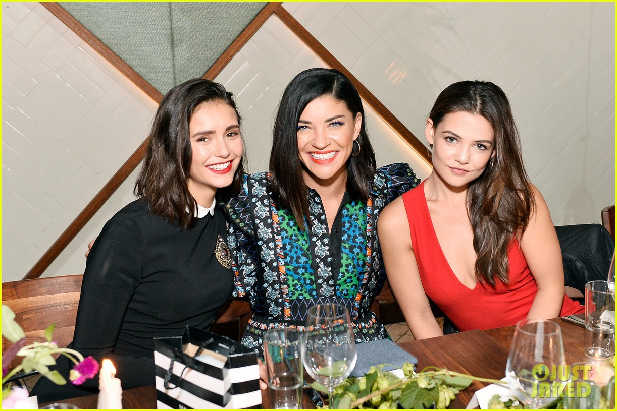 nina dobrev celebrates her harpers cover with friends 27