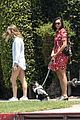 nina dobrev walks her dog maverick 05