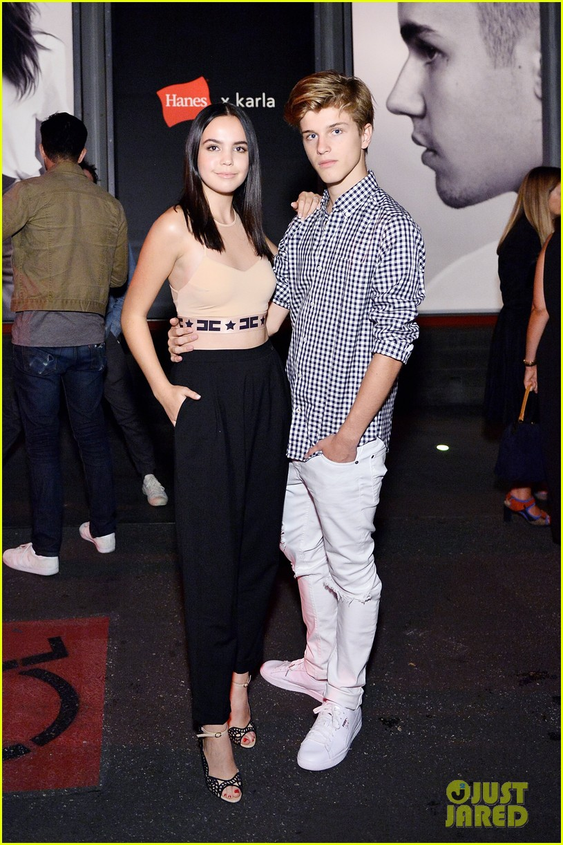 bailee madison and alex lange are way too cute at justin biebers t shirt launch 01