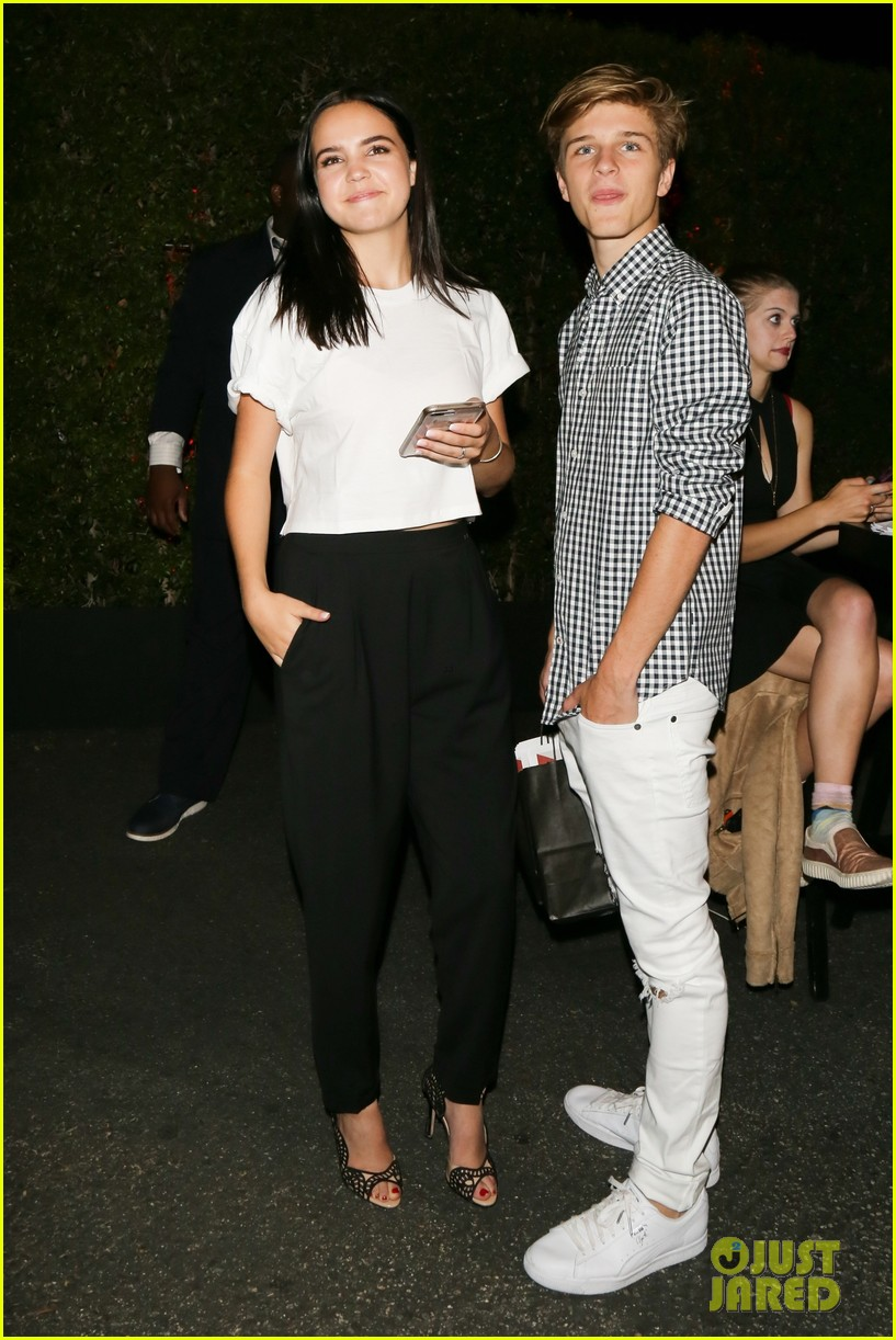 bailee madison and alex lange are way too cute at justin biebers t shirt launch 02