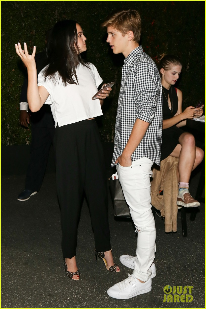 bailee madison and alex lange are way too cute at justin biebers t shirt launch 04