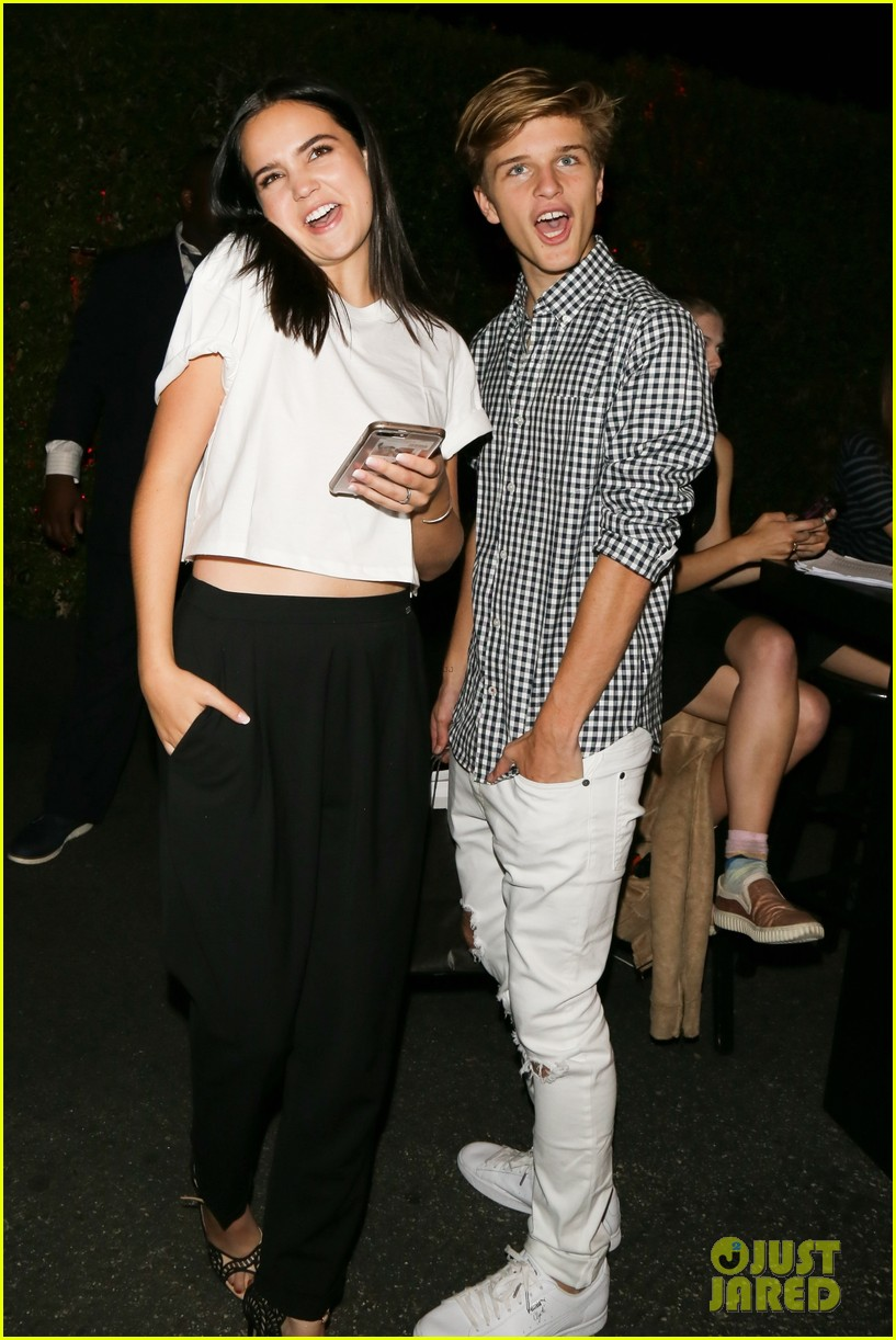 bailee madison and alex lange are way too cute at justin biebers t shirt launch 05