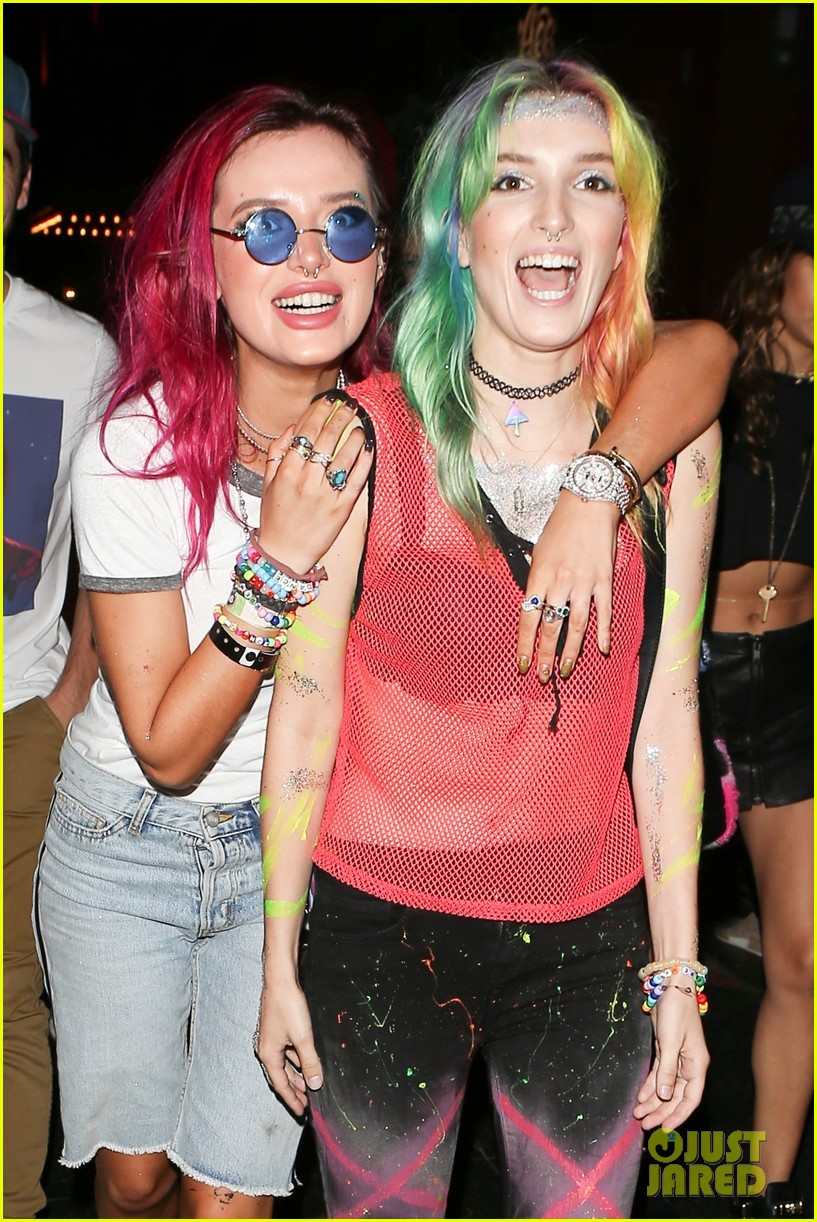 bellathorne and sister dani get colorful at avalon nightclub 03