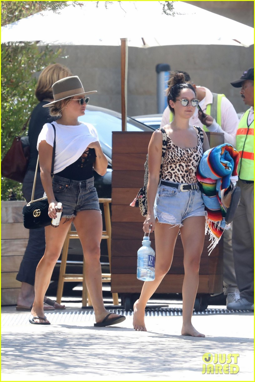 ashley tisdale hits the beach in leopard print bathing suit 09