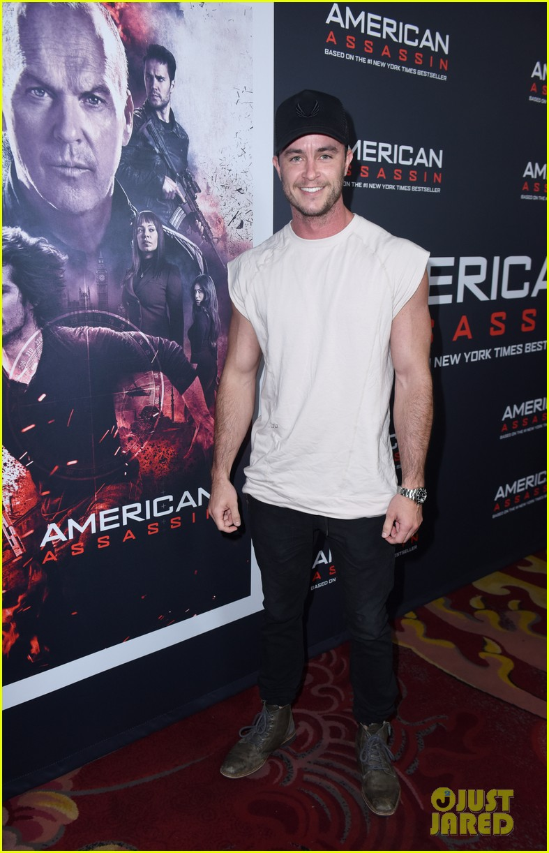 tyler posey supports dylan obrien at american assassin la premiere 02