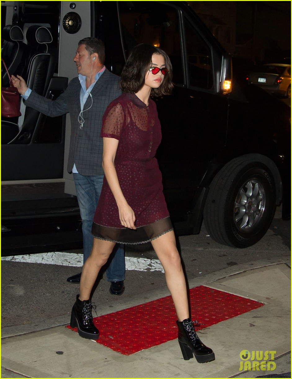 selena gomez stuns in sheer for dinner in nyc 08