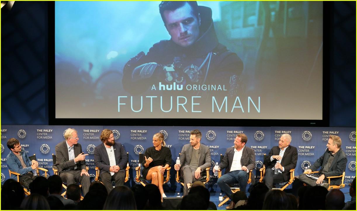 josh hutcherson and future man co stars preview new hulu series at paleyfest 11