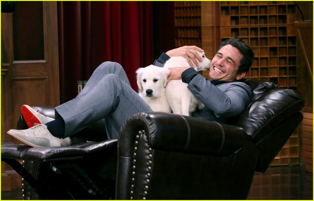 kendall jenner cuddles with puppies on tonight show 04