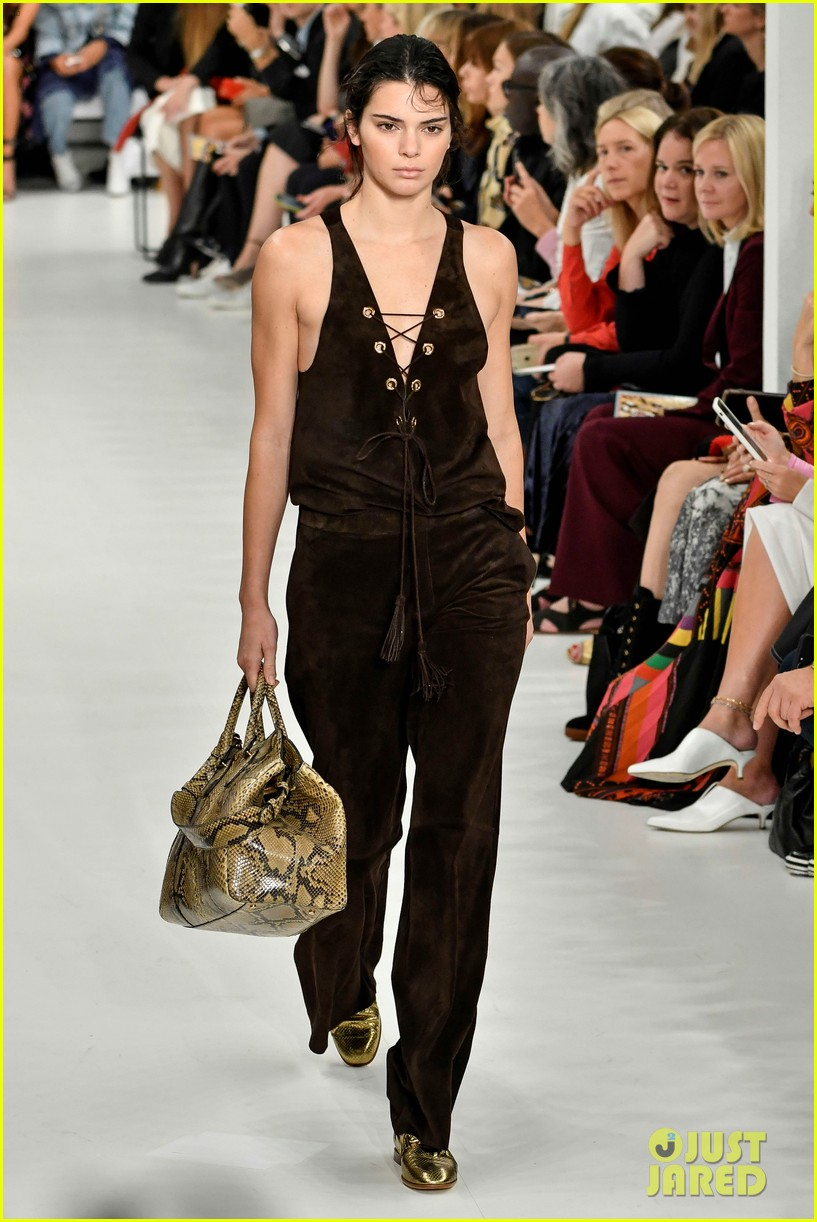 kendall jenner rocks two looks for tods milan fashion week show 01