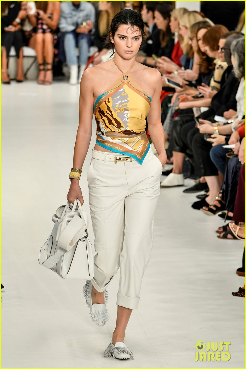 kendall jenner rocks two looks for tods milan fashion week show 04