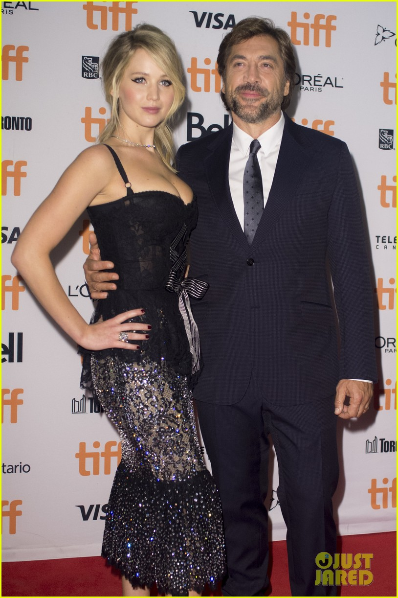 jennifer lawrence javier bardem screen mother at tiff 14