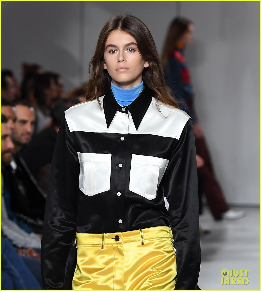 kaia gerber makes runway debut in calvin klein show 02