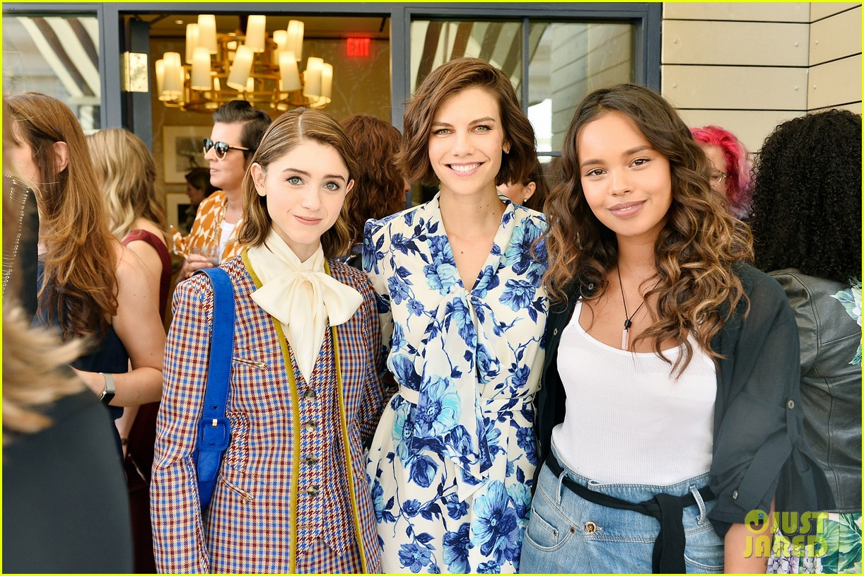 danielle panabaker alisha boe and shannon purser team up for glamour event 16