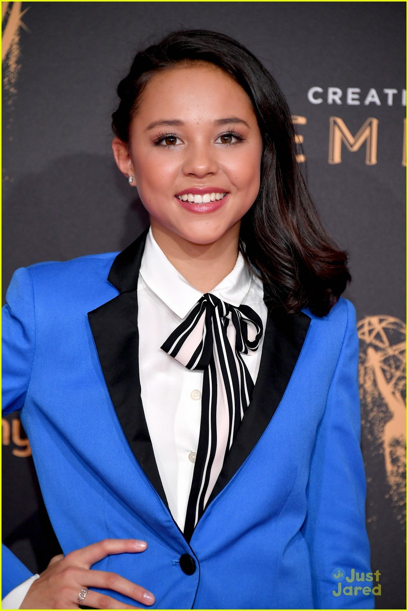 Breanna Yde Sparkles in Silver Heels at Creative Arts Emmys