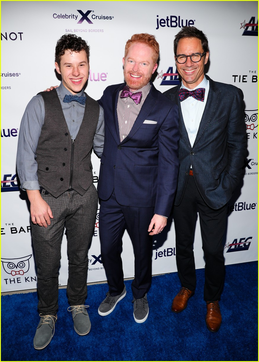 nolan gould supports jesse tyler ferguson at tie the knot 5 year anniversary party 06