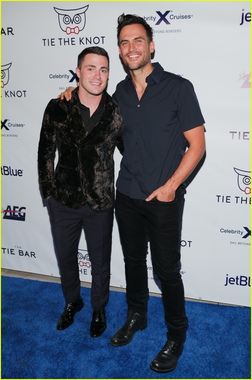 nolan gould supports jesse tyler ferguson at tie the knot 5 year anniversary party 07