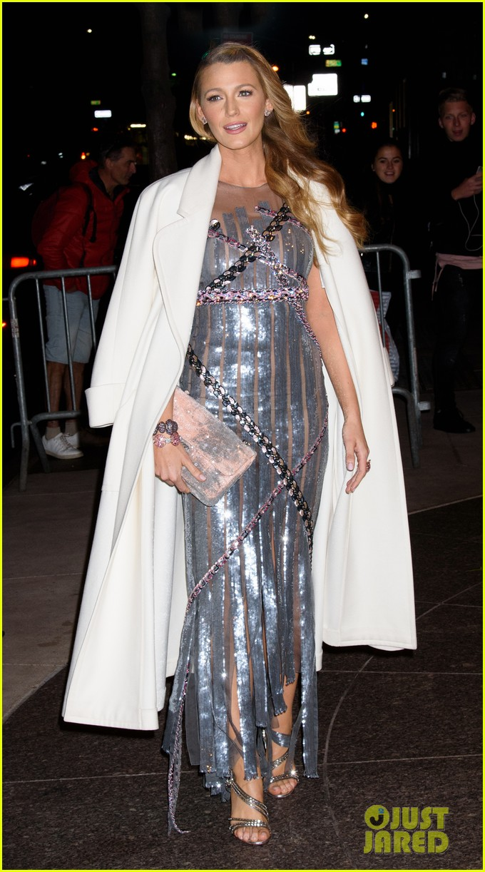 blake lively stuns in silver dress and jersey outfit at all i see is you premiere 07