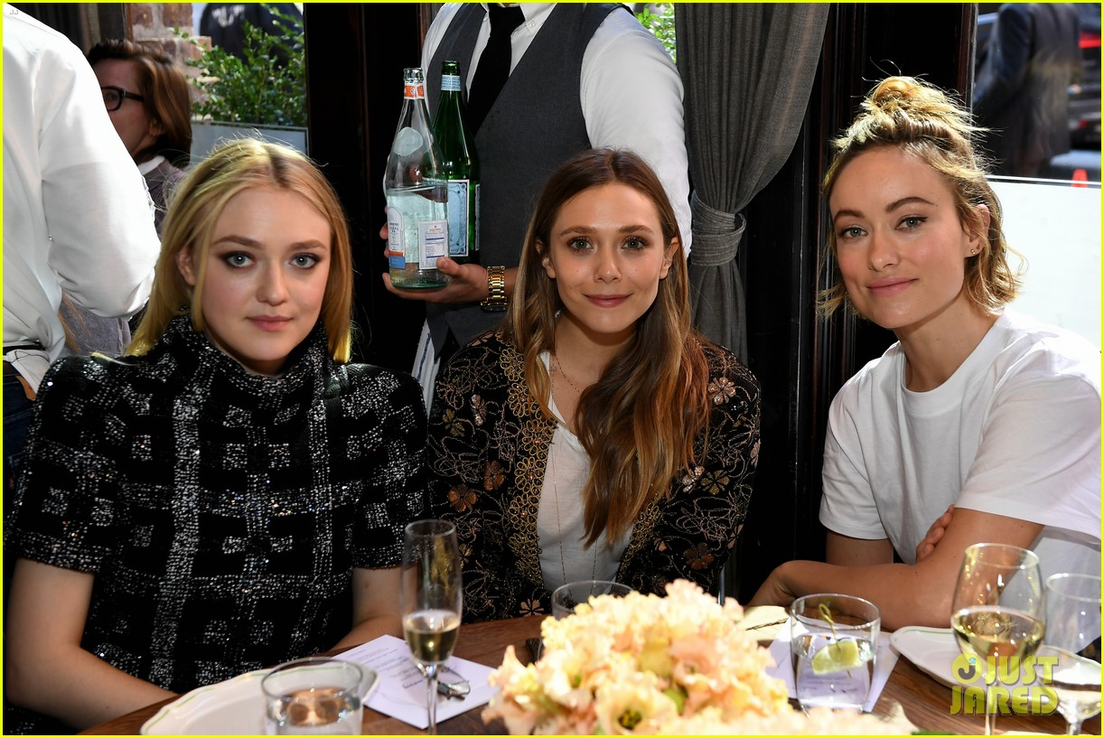 elizabeth olsen dakota fanning tribeca chanel event 02