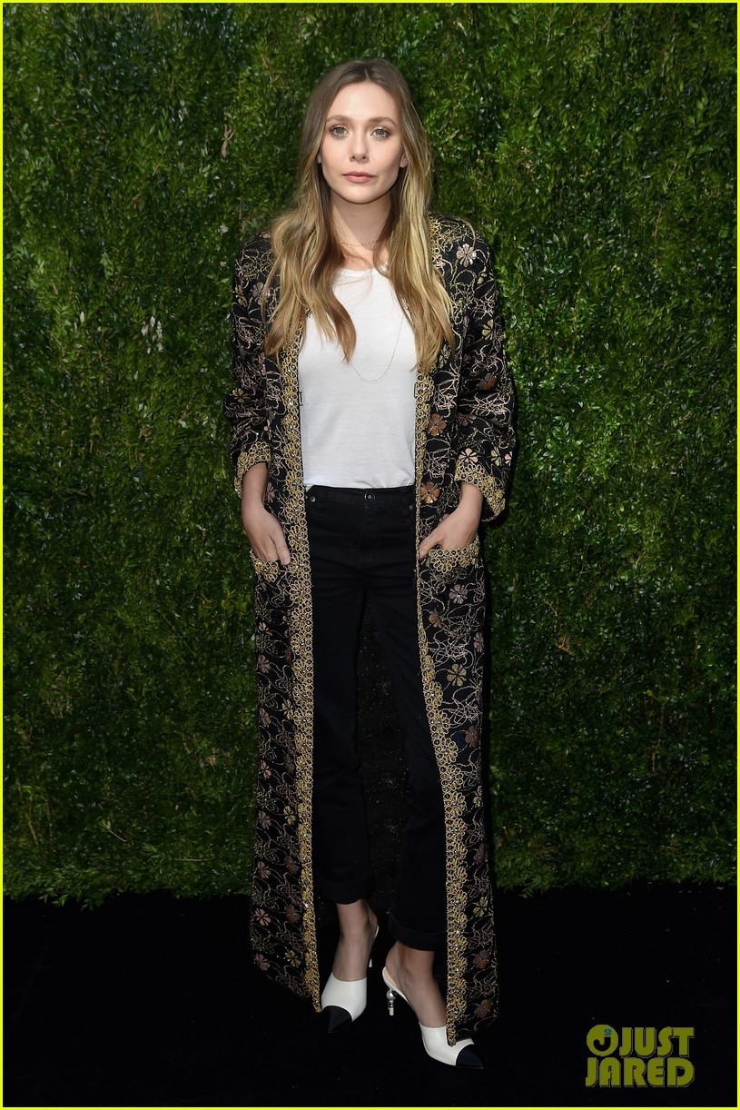 elizabeth olsen dakota fanning tribeca chanel event 13