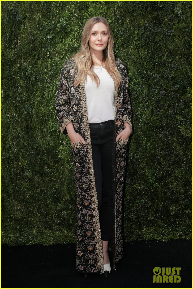 elizabeth olsen dakota fanning tribeca chanel event 33